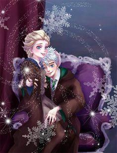 Jelsa hogwarts Disney Au, Disney Fan Art, Cute Disney, Disney And Dreamworks, Disney Pixar, Jack Frost And Elsa, Frozen Elsa And Anna, Disney Frozen Elsa, Disney Princess