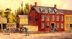 The Bulls Head Tavern (c. located approximately at The Bowery and Canal Street served the thriving slaughterhouse and tannery industry, the area was surrounded by holding pens with slaughterhouses along Mulberry Street[ Evacuation Day, Places That Cater, East Side Gallery, Stone Street, Mulberry Street, New Amsterdam, Colonial America, Lower East Side, Lower Manhattan