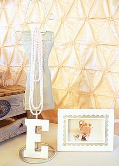 Shabby Chic First Birthday Party | Decoration, fake pearls