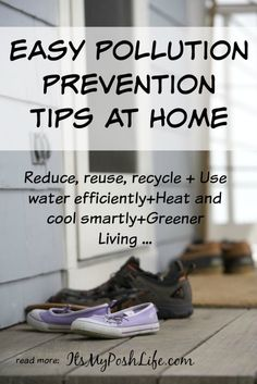 Easy Pollution Prevention Tips at Home