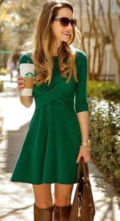 Cute dress, maybe a little too short, I like right at knee length
