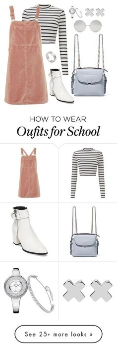 """Untitled #4470"" by magsmccray on Polyvore featuring Miss Selfridge, Topshop, Steve Madden, Cartier, Fendi, Linda Farrow and Witchery"