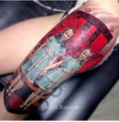 The Shining twins tattoo, Carlos Ransom Abraxas Tattoo Co. Lawrence, KS