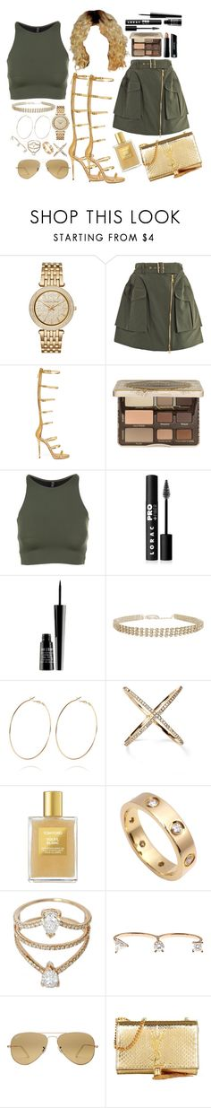 """""""High End."""" by beydior ❤ liked on Polyvore featuring Michael Kors, Kenzo, Giuseppe Zanotti, Too Faced Cosmetics, Onzie, Bare Escentuals, LORAC, Lord & Berry, Humble Chic and River Island"""