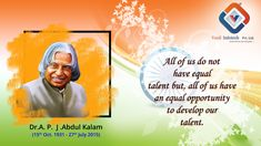 Tribute to former President, an exceptional scientist, a brilliant teacher & the of India, Dr. Abdul Kalam, Equal Opportunity, Digital Marketing Services, Former President, Software Development, Mobile App, Web Design, Teacher, India