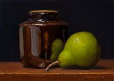 Wang Fine Art: still life with a pear