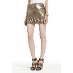 BCBGMAXAZRIA - WHAT'S NEW: NEW ARRIVALS: ELKA SEQUINED MINISKIRT  So easy to dress down during the day or out at night!