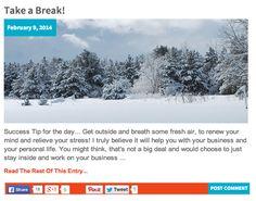 Take a Break! http://katielendel.com/take-break/