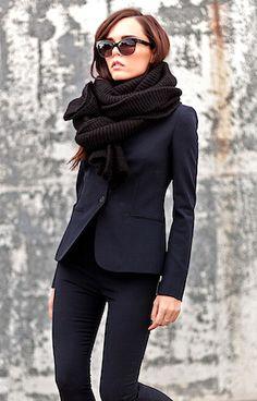 I find myself wearing black on black on black lately...