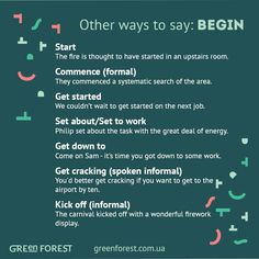 Other ways to say: Begin