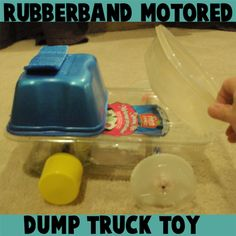 How to Make Rubber band Powered Toy Dump Trucks and Cars Lesson