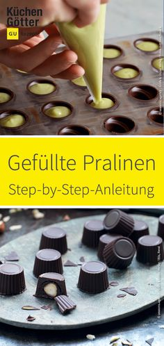 Gefüllte Pralinen und Hohlkörper selber machen Filled or cast chocolates are the noblest of the chocolates. We'll show you a practical step-by-step guide that you can use to make it yourself in no Vegan Recipes For One, Delicious Vegan Recipes, Yummy Food, Nutella, Vegetable Drinks, Food Trends, Homemade Cakes, Cookies Et Biscuits, Clean Eating Snacks