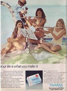 Apparently, using tampons in 1974 added to your musical skills.