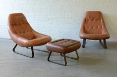 New York: Pair of vintage Brazilian leather lounge chairs $1275 - http://furnishlyst.com/listings/978726
