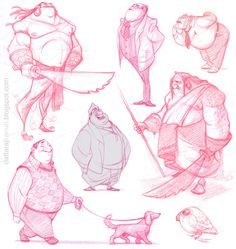 DATTARAJ KAMAT Animation art: sketches...