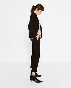 Image 5 of RELAXED FIT CREPE TROUSERS from Zara