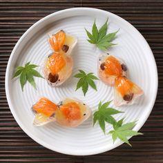 Japanese sweets shaped like a Goldfish. #Japanese #Sweets #Wakashi #和菓子