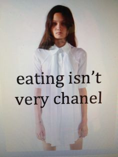 Eating isn't very chanel | Anonymous ART of Revolution