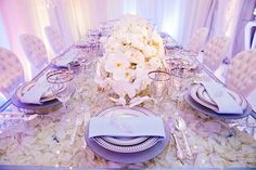 This Cinderella inspired wedding reception is overflowing with romantic ivory floral
