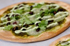 Gluten Free + Dairy Free Fiery Pesto Pizza via Beard + Bonnet