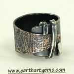 Rustic Copper and Sterling Wrapped Ring