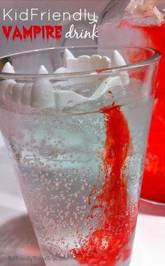 2 Ingredient Kid Friendly Vampire Drink for Halloween - http://KidFriendlyThingsToDo.com
