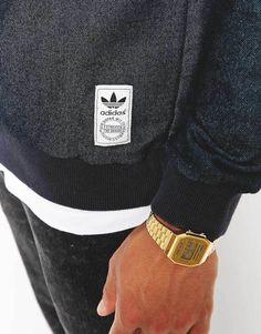 51fef5bcc18921 Adidas Originals Indigo Crew Sweatshirt Casio Uhr
