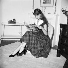 Young Brigitte Bardot at home in Paris, 1950s