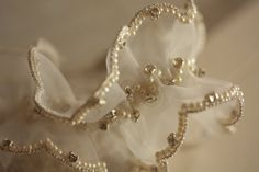 Bridal Wedding Garter Set in off white  and silver by MillieICARO, $89.00