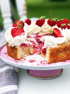 Easy and delicious honey cherry cake with whipped cream topping! Great with canned or fresh cherries! Perfect as a breakfast cake or after dinner dessert! Food Cakes, Cupcake Cakes, Cupcakes, Cherry Cake Recipe, Tatyana's Everyday Food, Cookie Recipes, Dessert Recipes, Soft Sugar Cookies, Summer Cakes