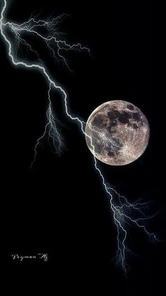 Lightning during a full moon