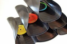 Vinyl Record Wine Rack