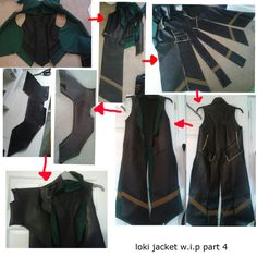 Jacket detail loki costume