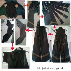 Jacket detail loki costume