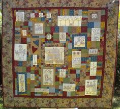 Peaceful Threads by Fiona: My Gardener's Journal Quilt is Finished!!