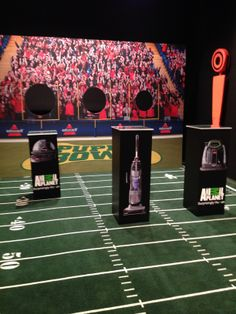 Flick football for a chance to win a SpotBot Pet at the Puppy Bowl experience in NYC.