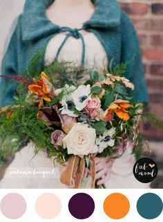 Teal Autumn wedding | Firefly Events and Mademoiselle Fiona photography