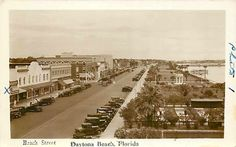 Very Old Daytona Beach - Beach Street Vintage Florida, Old Florida, Florida Usa, Central Florida, Florida Location, Daytona Beach Florida, Landscape Structure, Ormond Beach, Fernandina Beach
