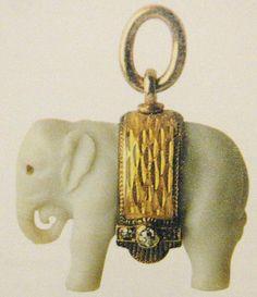 Faberge Elephant Pendant