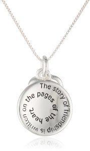 "The Story of Friendship Is Written On the Pages Of The Heart. I am a Better Me Because Of You"" Two Tone Pendant Necklace"