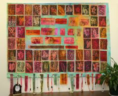 Beautiful Printmaking Display; another interdisciplinary project--art, literature, or possibly a project inspired by a particular poem.