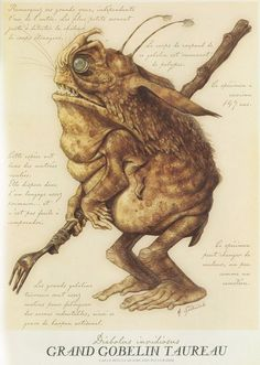 Ground Troll A Goblin, from Arthur Spiderwick's Field Guide to the Fantastical World Around You (The Spiderwick Chronicles), 2003 Forest Creatures, Magical Creatures, Fantasy Creatures, Fantasy World, Fantasy Art, Spiderwick, Dragons, Mythological Creatures, Fantasy Illustration