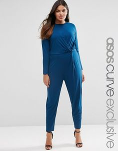 ASOS Curve ASOS CURVE Peg Leg Jumpsuit with Twist Front -- Want to know more, click on the image.