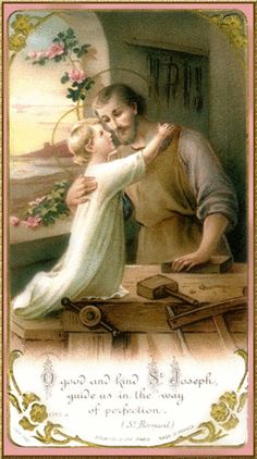 Novena in Honour of and Supplication to St Joseph the Worker Day 8 Glorious Saint Joseph, spouse of the Immaculate Virgin, Be my guide, my father and my model through life that I may merit to .to pray join Devotions Catholic Art, Catholic Saints, Religious Art, Religious Pictures, Jesus Pictures, Blessed Mother Mary, Blessed Virgin Mary, Happy Feast, Vintage Holy Cards