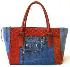 Patchwork Handbags Jean Recycle.