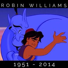 """""""Genie, you're free.""""  RIP Robin, you've touched so many lives and will be greatly missed!"""