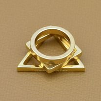 three-piece set of midi rings perfect for ring stacking  Metals Type: Gold Plated Shape\pattern: Geometric Size: 6.5