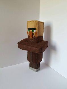Minecraft villager birthday gift Check out this item in my Etsy shop https://www.etsy.com/listing/502545483/mto-minecraft-villager-handmade-felt