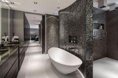 Freistehende Badewanne-Keramik Oval Trennwand-Verfliest mosaike-einbau-regale