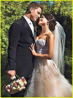 Jenna Dewan and Channing Tatum-feathered dress